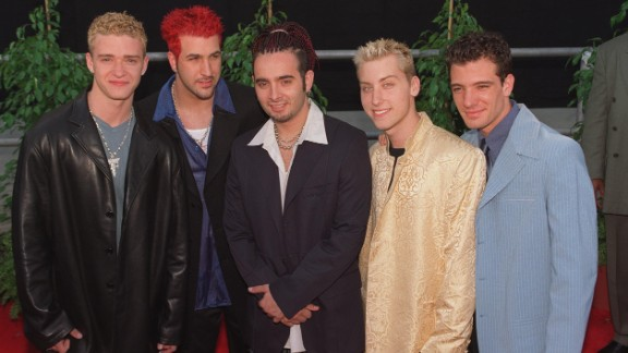The Backstreet Boys had to battle for boy band domination in the late '90s with the likes of 'N Sync, fronted at the time by a curly-haired Justin Timberlake, left. (The mystery of those curls has remained unsolved.) Interestingly enough, the tables have now turned: Whereas 'N Sync was killing it in 1998, in 2013 they could barely reunite for more than a minute. In 2017 they launched a Vegas residency.
