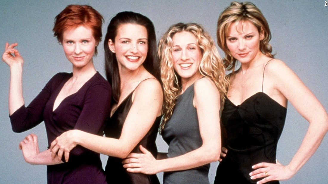 "Believe it or not, ""Sex and the City"" debuted in 1998. And somehow, even with episodes in constant rotation on cable plus two so-so movies, Sarah Jessica Parker (third from left) is still <a href=""http://www.usmagazine.com/celebrity-news/news/sarah-jessica-parker-a-third-sex-and-the-city-movie-would-be-wonderful-201345"" target=""_blank"">considering giving Carrie Bradshaw another go.</a> Also pictured from left: Cynthia Nixon as Miranda Hobbes, Kristin Davis as Charlotte York, Parker, and Kim Cattrall as Samantha Jones."