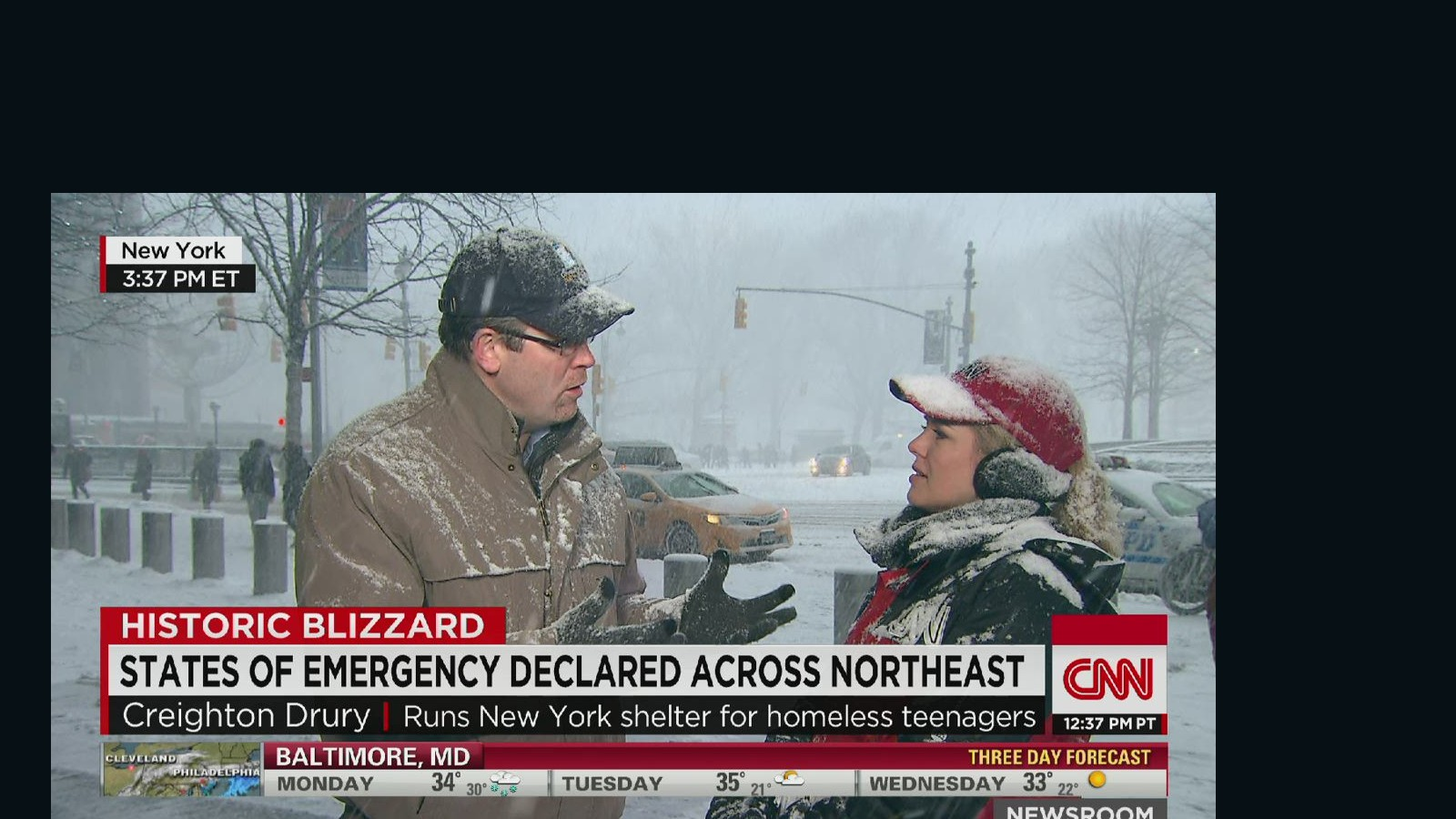 Opportunity to reach out to homeless during blizzard - CNN Video