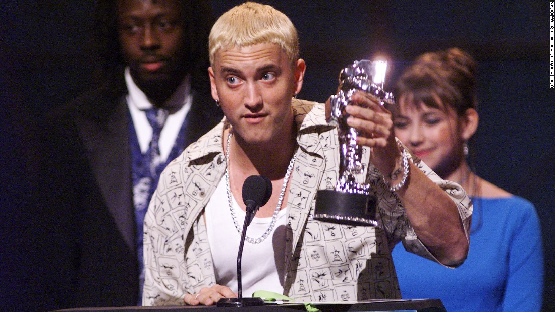 "Eminem politely introduced himself in 1999's not-so-polite track, ""Hi, My Name Is."" Between his effortless, rapid-fire flow and his pop culture-savvy music video, Slim Shady didn't need much more of an introduction than that."