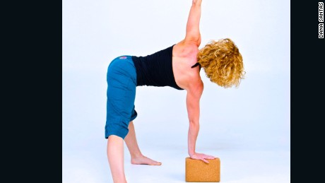In yoga a standing straddle straddle with a twist lengthens abductors and hamstrings and enhances midback mobility