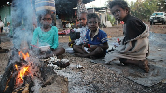 Wik children gather around the campfire at Bull Yard outstation on Wik homelands, on the Cape York Peninsula in north Queensland. This, and the other images in this gallery, were taken by photographer Leigh Harris from Ingeous Studios.