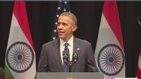 Obama speech outlines future U.S.- India relations