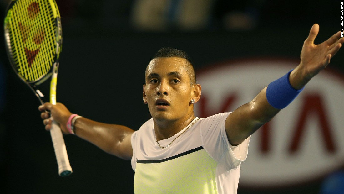 The 19-year-old Kyrgios won a few highlight-reel points but Murray wore him down.