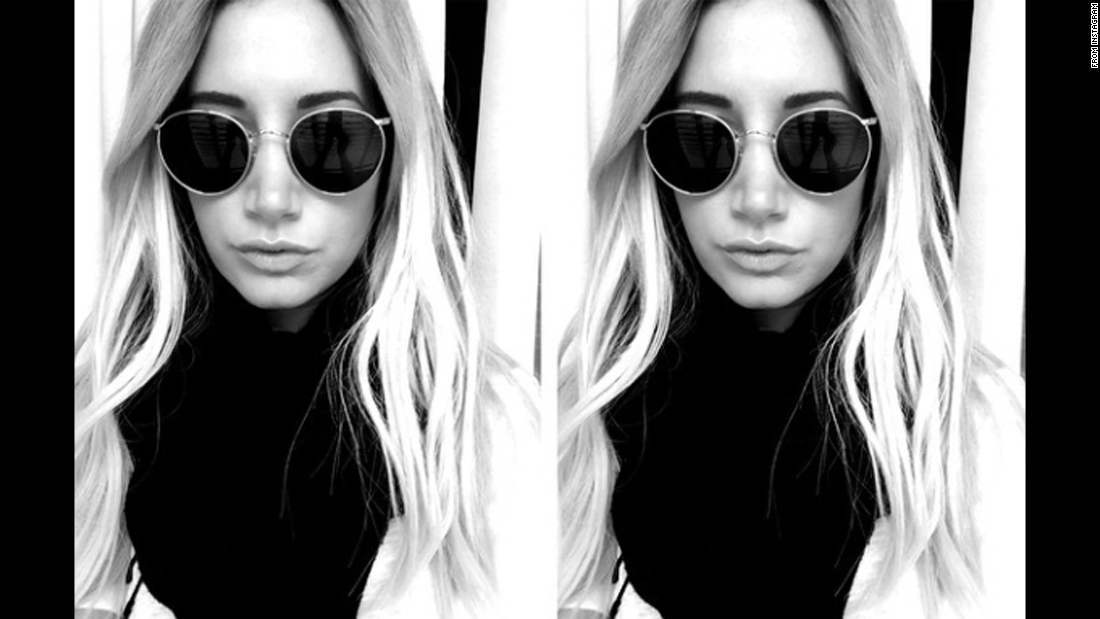 """Thanks to @chloebartoli for letting me steal her sunglasses,"" wrote actress Ashley Tisdale in a selfie she <a href=""http://instagram.com/p/yXN3v3waGt/?modal=true"" target=""_blank"">posted to Instagram</a> on Tuesday, January 27."