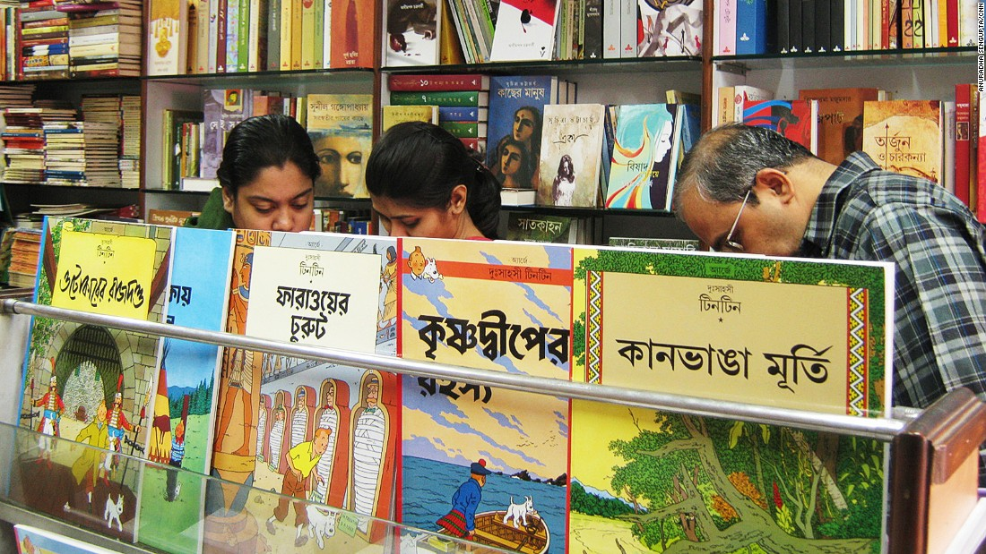 Even if can't understand the language, a visit to stores that sell Bengali books is a memorable experience. Ananda (pictured) is the public outlet for Kolkata's premier publisher of Bengali literature.