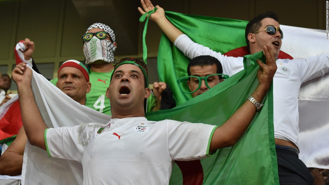 Algeria fans prepare for their country's AFCON Group C fixture with Senegal in Malabo, Equatorial Guinea.