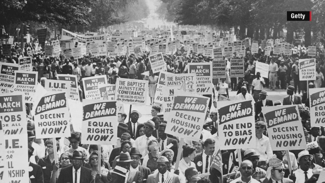 people protesting for more rights for the african american community