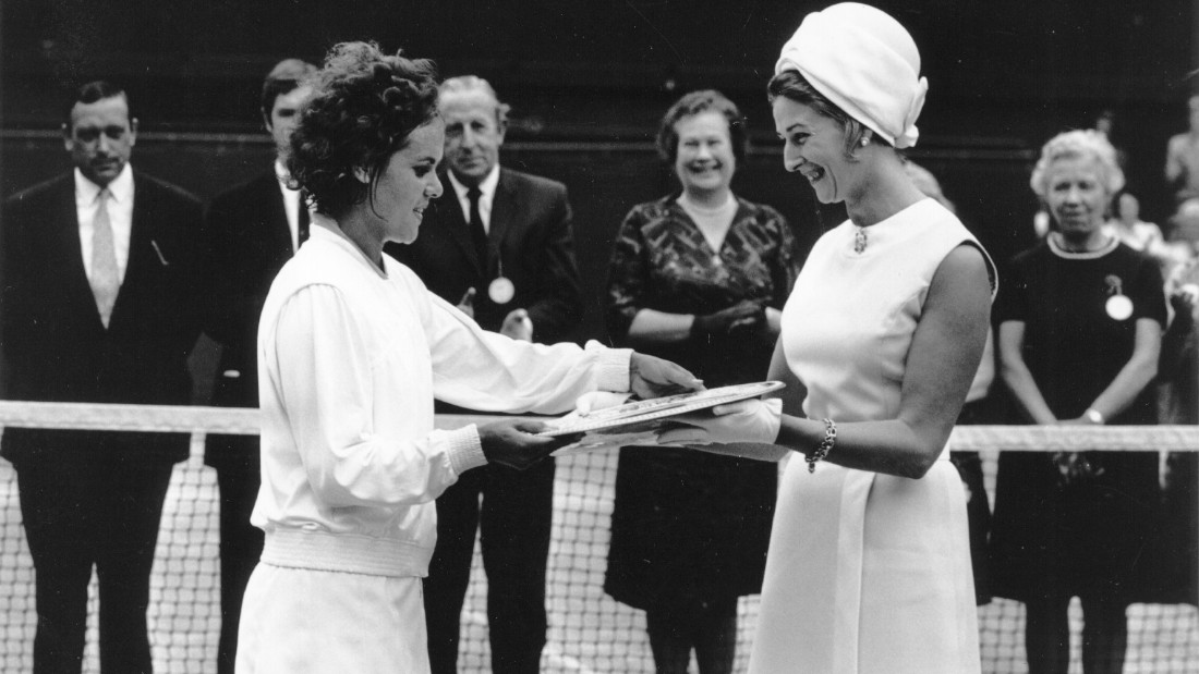She first read about Wimbledon in a girl's magazine and dreamed of winning the tournament, achieving the feat at her second attempt in 1971.