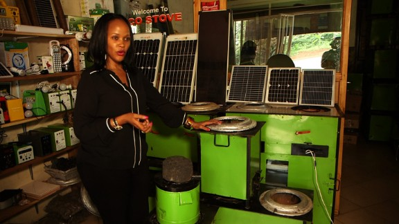 "Inspired by the desire to use energy more efficiently and to help save the environment, Rose Twine, pictured, conceived the ""eco stove"" with her brother in 2009. The Kampala-based startup hopes to offer a more eco-friendly cooking solution to homeowners, who frequently suffer from respiratory issues as a result of using wood and charcoal for cooking indoors."