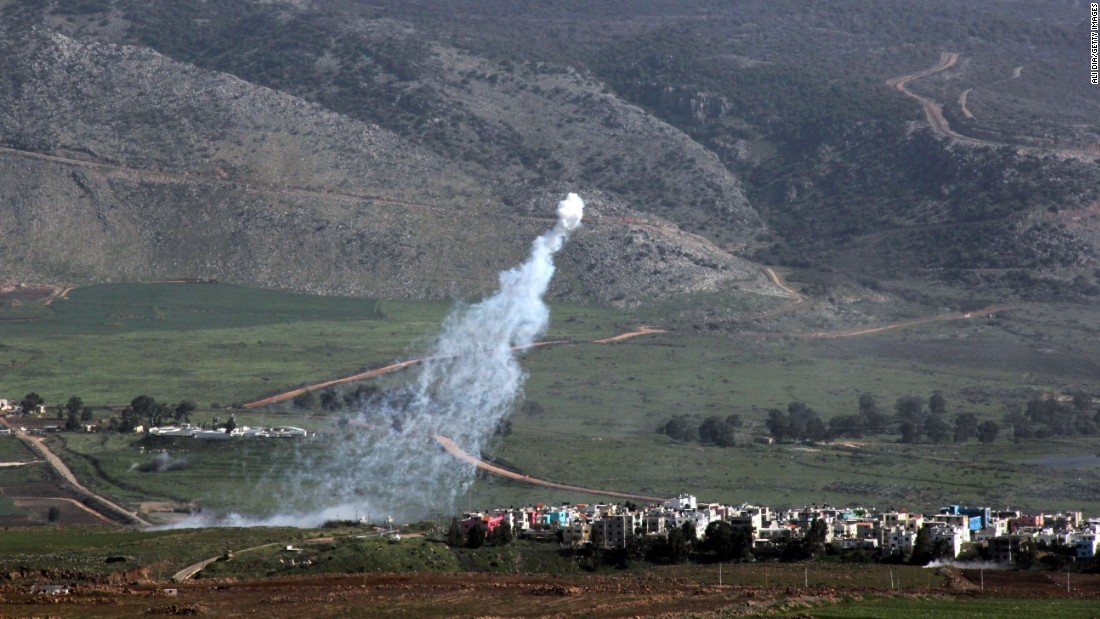 Smoke from Israeli shelling covers the Lebanese town of Al-Majidiyah, on the border with Israel, on Wednesday, January 28. Fighting between Israel and the Lebanese militant group Hezbollah has left two Israeli soldiers and a Spanish peacekeeper dead, officials said.