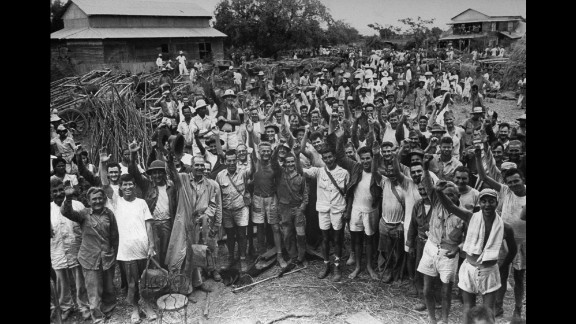 Those freed from the Cabanatuan prison camp also told of surviving the infamous Bataan Death March.