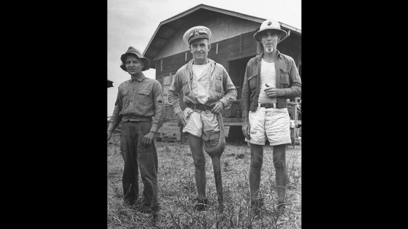Here are more American POWs, including one with a wooden leg, who were freed from the prison camp.