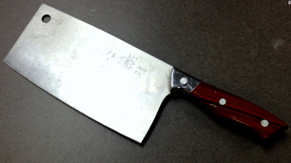 The TSA regularly confiscates more potentially dangerous, prohibited carry-on items. This meat cleaver was discovered in a carry-on bag at the Newark Liberty International Airport. They're allowed in checked baggage.