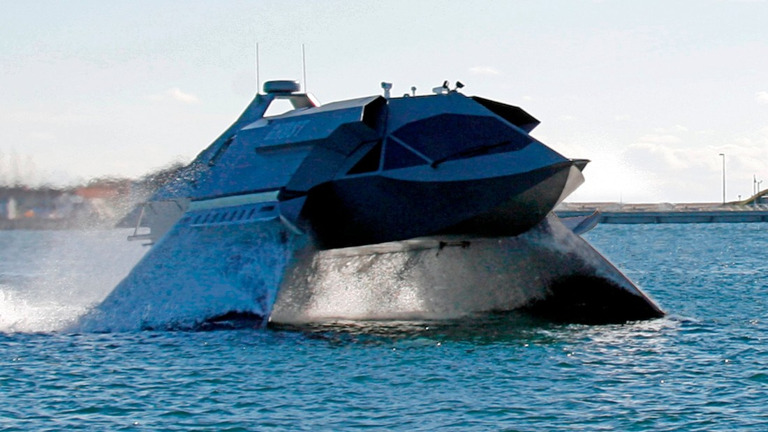 """We're actually flying through this incredibly dense foam, which is mostly air, which gives us much higher speeds,"" said Gregory Sancoff of Juliet Marine Systems."