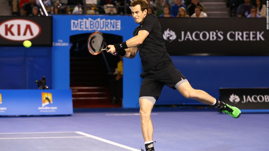 Murray stepped up his baseline game in the final three sets, pinning Berdych back.