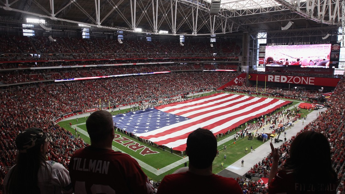 "With a capacity of 63,400 many fans will have to settle for high up ""nosebleed"" seats in the University of Phoenix Stadium, here pictured in November."