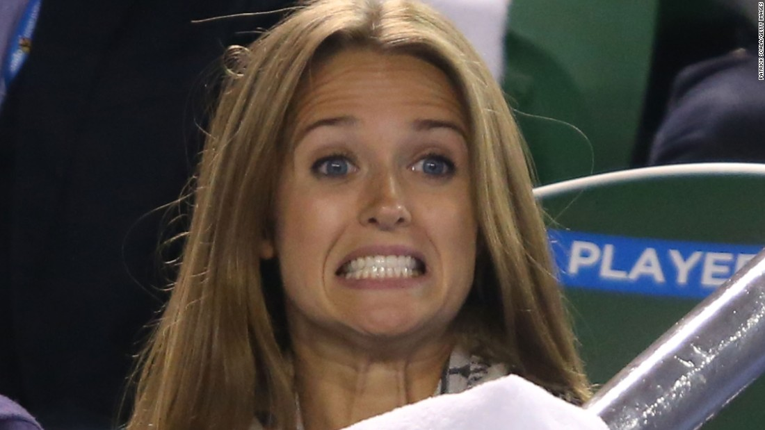 He was rooted on by fiancee Kim Sears, who is often found in Murray's player box.