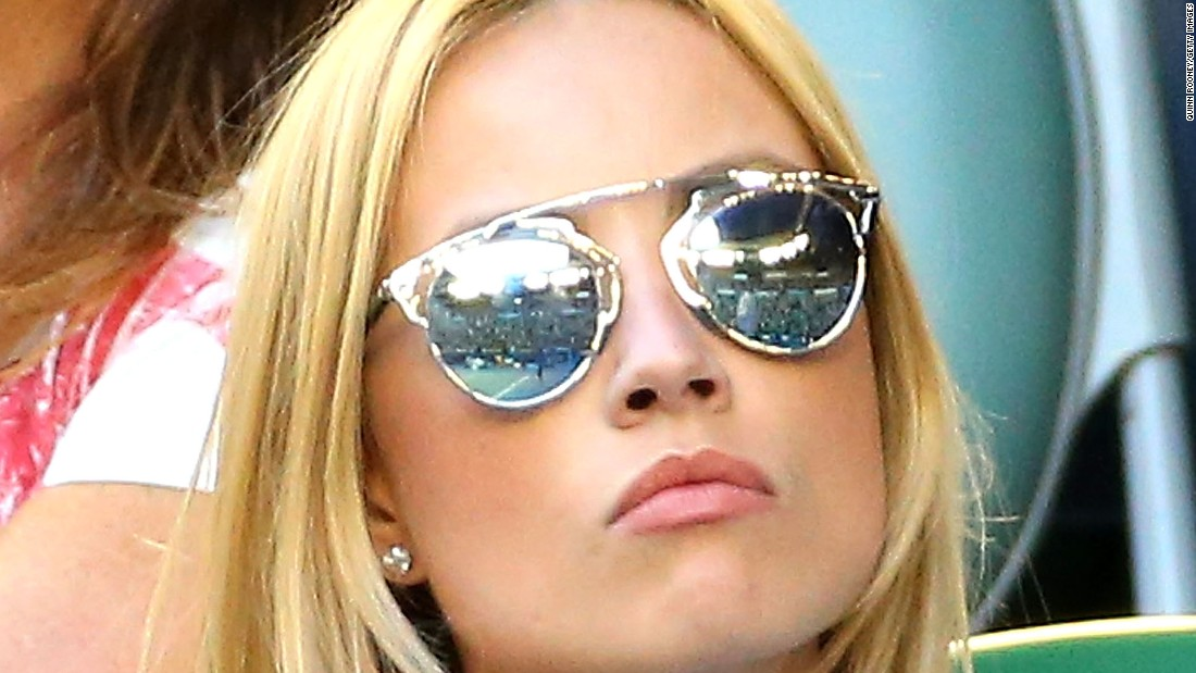 Berdych's fiancee, model Ester Satorova, also took in the match on Rod Laver Arena.