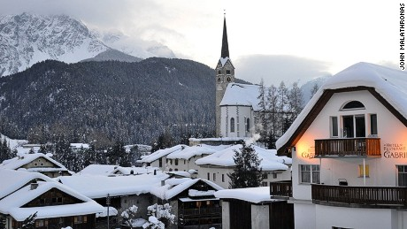 The village of Scuol barely sees any sunshine in winter.