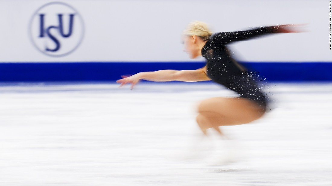 "JANUARY 29 - STOCKHOLM, SWEDEN: Kiira Korpi of Finland performs on the ice during the ladies short program of the<a href=""http://skatesweden.se/en/ec2015/"" target=""_blank""> ISU European Figure Skating Championships</a> on January 29, 2015."