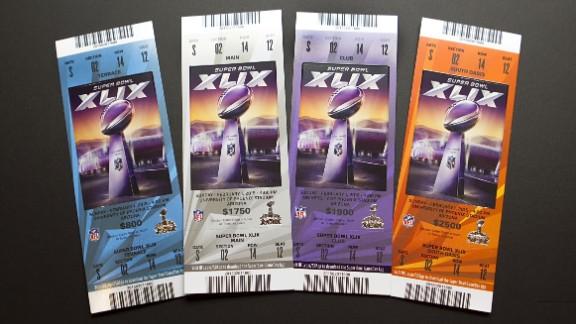 Tickets for Super Bowl championships XLIX