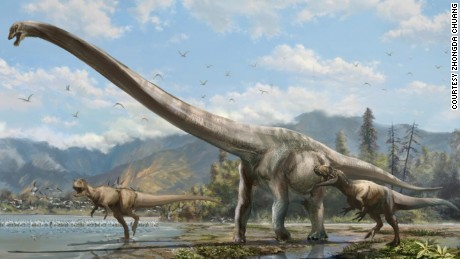 Incredible 50-foot 'dragon' dinosaur unearthed by Chinese farmers