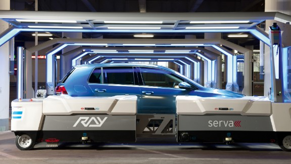 This robotic valet physically lifts your three tons of road machinery and slots it into pre-designated robot parking bay. Nicknamed RAY by its creators, the automated forklift truck is the brainchild of Germany's Serva Transport.