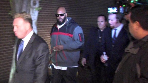 This image from video shows Knight walking into the Los Angeles County Sheriff