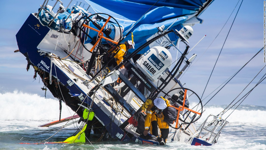 One of the toughest round-the-world competitions on the planet is the Ocean Volvo Race (pictured). But before sailors can hit the open waves, they must take part in a three-day advanced sea safety course.