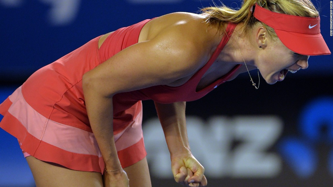 But as is her way, Sharapova didn't throw in the towel in the second set.
