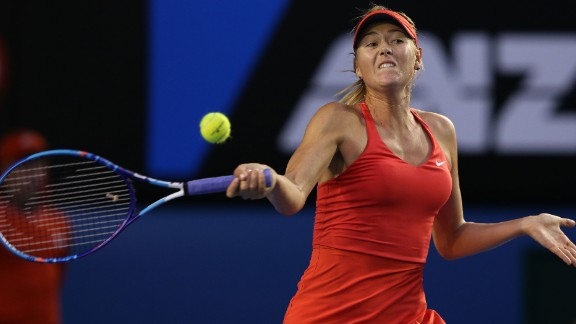 Sharapova saved two match points with big forehands.