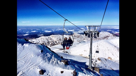 With Morocco's drive to promote tourism, the airline industry is predicted to grow further. Shown here is the chairlift leading to the top of Oukaimeden, Africa's tallest ski resort located in the Atlas mountains.