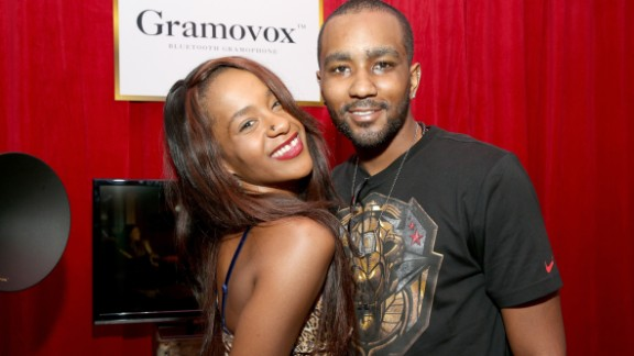 Bobbi Kristina Brown and Nick Gordon attend the GRAMMY Gift Lounge during the 56th Grammy Awards on January 25, 2014 in Los Angeles.