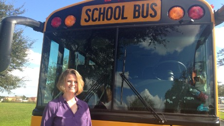 Kristina Buhrman a teacher in Lake Alfred, Florida saved 38 children from a burning bus.