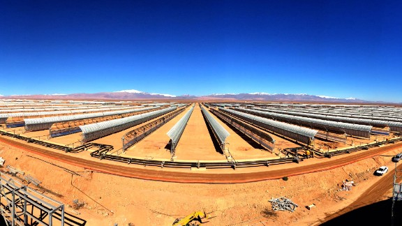 Situated at the gateway to the Sahara Desert, the whole complex provides 580 megawatts -- saving the planet from over 760,000 tonnes of carbon emissions.
