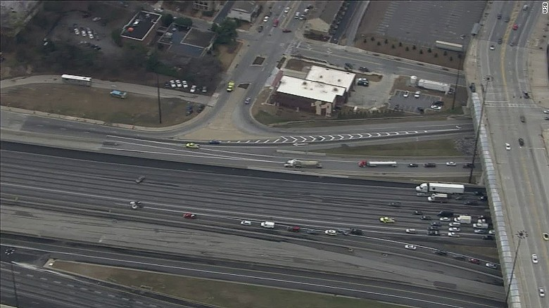 Atlanta highway traffic stopped over suspicious package