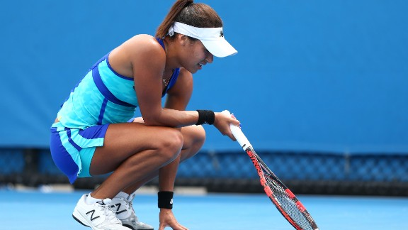 """Heather Watson created a stir at the Australian Open last month after insinuating her loss was down to """"girl things."""""""