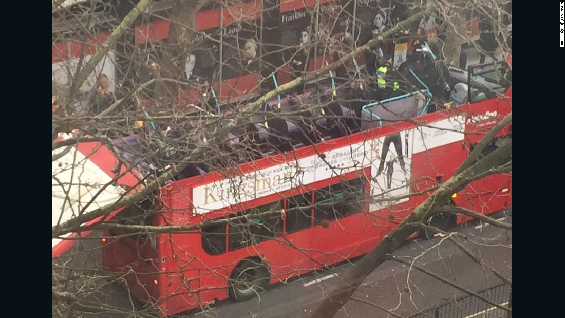 Roof torn off London bus after collision with tree - CNN