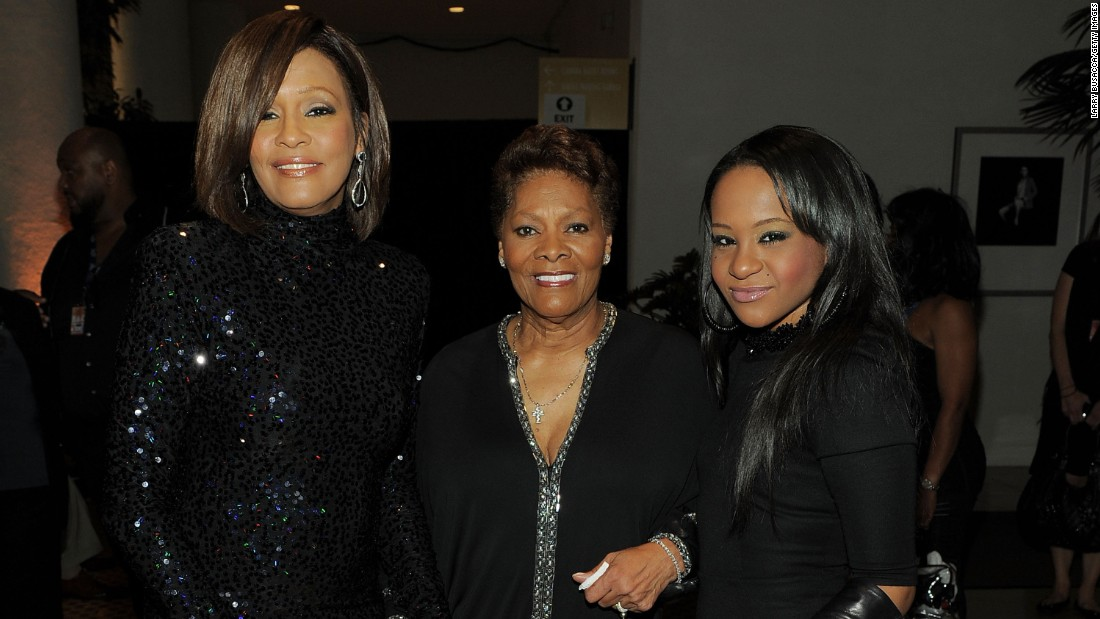 Bobbi Kristina's famous parents gave her frequent access to music royalty. Here she is with her mother, left, and cousin Dionne Warwick in 2011.