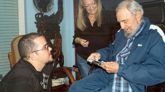 Cuban state-press Monday, February 2, 2015, released the first images of Fidel Castro since August. The 21 photos show a reported meeting between Castro, 88, and the head of the student university association in January at Castro