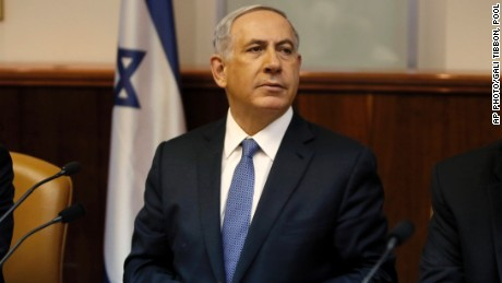 Israel's Prime Minister Benjamin Netanyahu chairs the weekly cabinet meeting in Jerusalem, Sunday, Feb. 1, 2015.