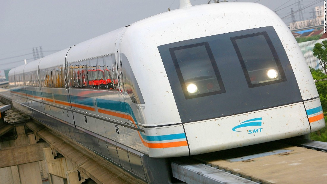 SkyTran uses a variation on magnetic levitation technology. China's Shanhai Maglev train is currently the world's fastest, able to hit 311 mph with a top operating speed of 268 mph.