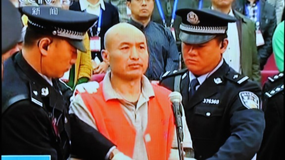 Zhang Lidong stands trial on 11 October, 2014. He was executed on Monday after being convicted of intentional homicide.