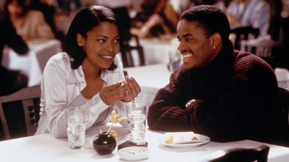 """Love Jones"" is the story of a poet and photographer -- Nia Long and Larenz Tate -- trying to figure out if they'd found lasting love, and it's filled with scenes of their lustful explorations. Their initial sleepover, set to the tune of Maxwell's ""Sumthin' Sumthin',"" is one that'll threaten to set fire to your TV."