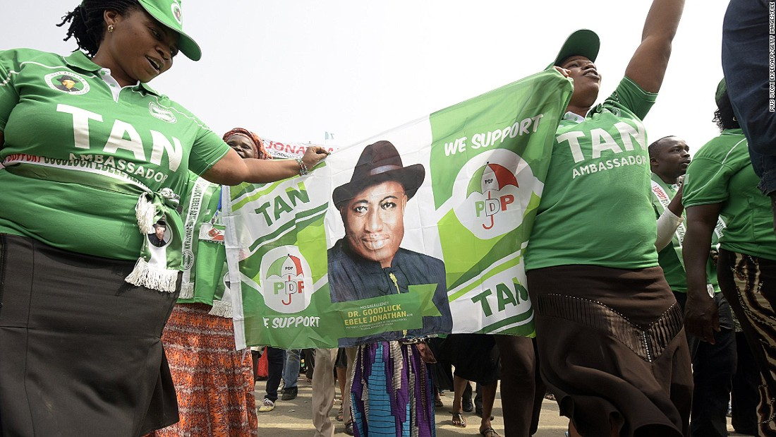 "Supporters of president Jonathan say the mild-mannered academic, who is the son of a canoe-carver, deserves another term in office. His late father, Lawrence, was quoted as saying that he ""called him Goodluck because although life was hard for me when he was born, I had this feeling that this boy would bring me good luck."""