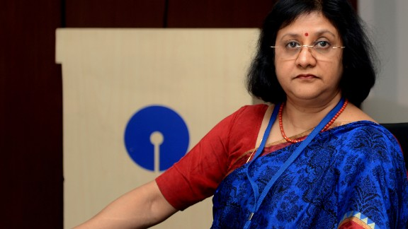 Chairperson of State Bank of India (SBI), Arundhati Bhattacharya attends the Finance Minister's meeting with Chief Executives of Public Sector bank and Financial Institutions in New Delhi on October 22, 2013. The meeting is to take stock of non-performing assets, credit growth and financial performance, include reviewing ways to cut down deteriorating asset quality, credit growth in the targeted sectors. AFP PHOTO/RAVEENDRAN. (Photo credit should read RAVEENDRAN/AFP/Getty Images)