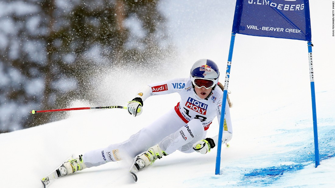 Vonn expressed mild frustration at the windy conditions in Beaver Creek for Tuesday's race on February 3, but said she was happy to finish third. Austria's Anna Fenninger won gold.