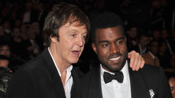 """More than a few folks scratched their heads when it was announced that Paul McCartney was working with Kanye West on the rapper's single, """"Only One."""" The pair performed with Rihanna at the 2015 Grammys."""