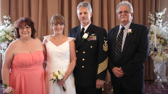 After a few months of dating, they married in September 2014 in Las Vegas. This time, the roles were reversed: Raymond's uncle carried the rings and Helen's sister carried the flowers.